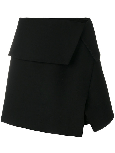 Balmain skirt women cotton black wool