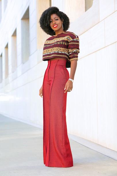 blogger top pants shoes