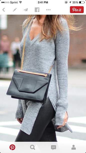 bag sweater grey