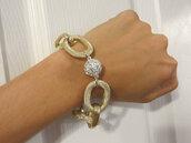 jewels,pave bracelet,chain jewelry,statement jewelry,etsy,jewelry,fashion jewelry,gold bracelet,gold chain
