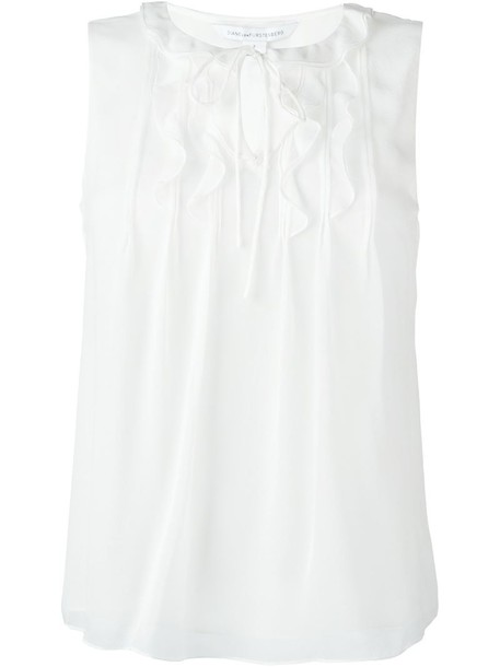 blouse sleeveless white top