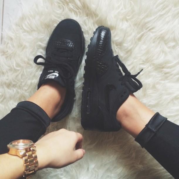 shoes air max air max nike black sneakers snake print sneakers nike shoes jewels