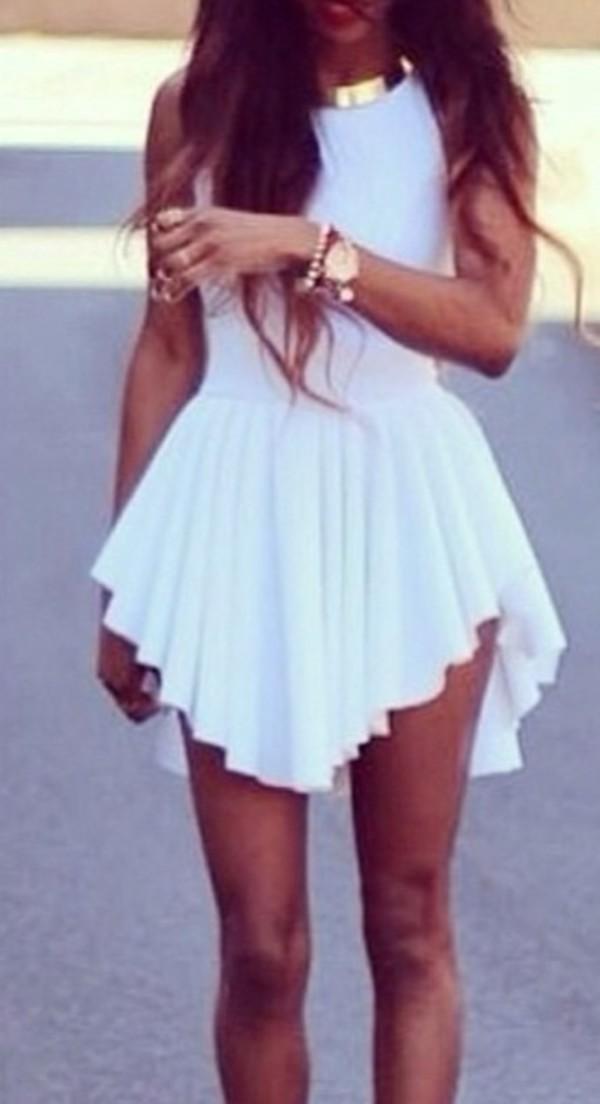 dress white white dress fashion