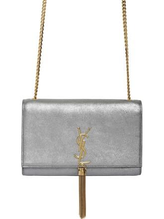 metallic bag shoulder bag leather dark