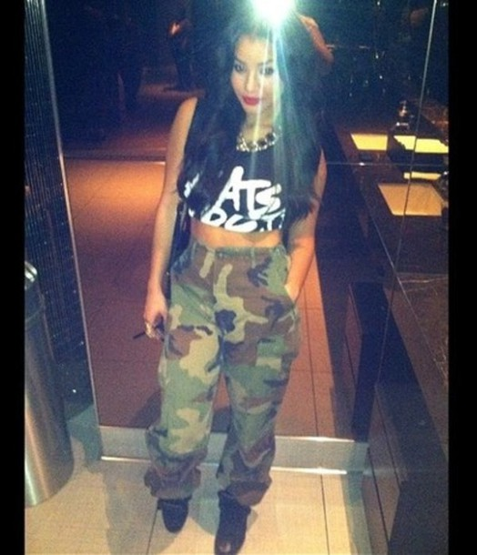 a01a86d8b54a pants camouflage camouflage high waisted high waisted high waisted pants  crop tops black and white combat