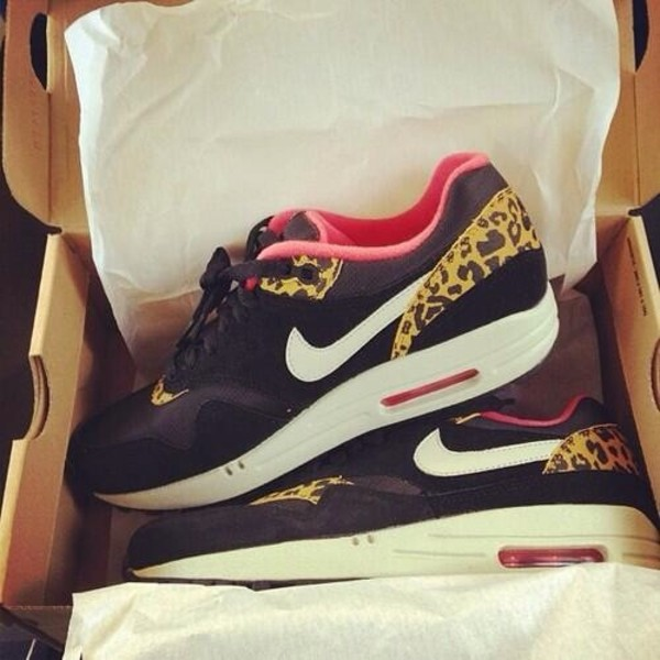 shoes nike nike air nike sneakers air max air max nike shoes with leopard print