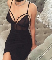 top,bodysuit,tank top,black,black sexy top?,black dress,skirt,black maxi dress,black maxi skirt,jewels,black thick plain coker,black coker,silver chain necklace