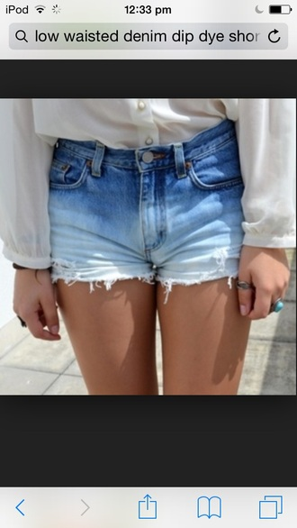 shorts low waisted dip dyed demin shorts