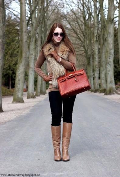 bag tote bag purse top gloves