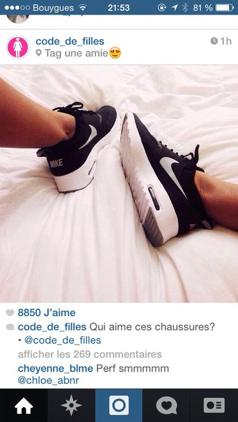 huge selection of f06f9 3f2e3 nike air max thea black shoes nike air air max nike air max thea white  sneakers