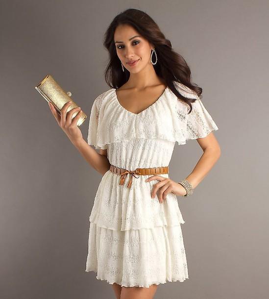 dress white white dress cute cute dress summer dress summer