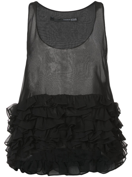 Thomas Wylde - Lucid tank top - women - Silk - XL, Black, Silk