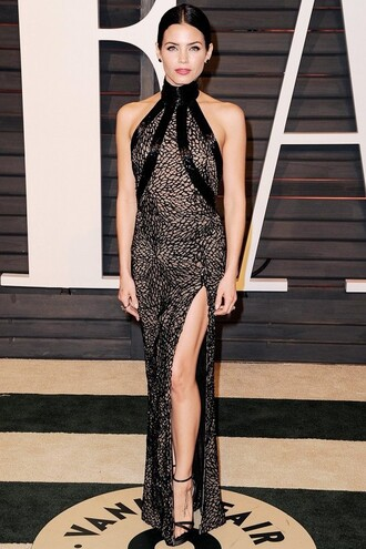dress gown red carpet dress jenna dewan oscars 2015