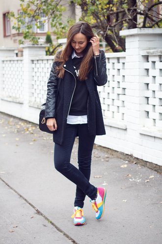 a cup of style blogger bag quote on it jumper colorful coat sweater shirt pants shoes jewels