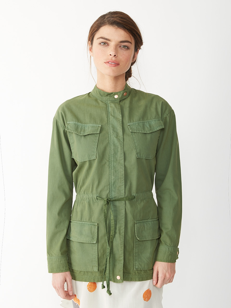 Herringbone military jacket