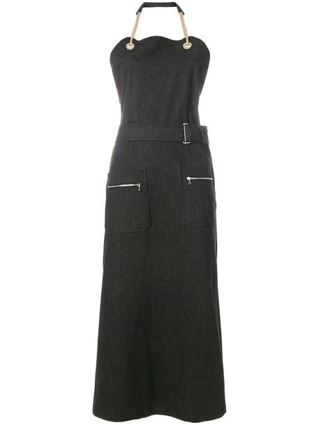 dress midi dress women midi cotton black