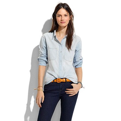 Shop the selection of chambray shirts at Old Navy. Wear our denim chambray shirts and look your best. Chambray Boyfriend Tunic Shirt for Girls. $ 30% Off Taken at Checkout. Slim-Fit Chambray Shirt for Men. $ 18% off. $