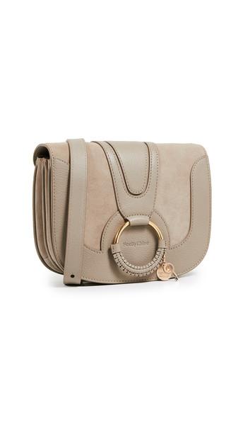 See by Chloe Hana Medium Saddle Bag in grey