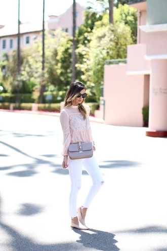 for all things lovely blogger top jeans bag shoes jewels