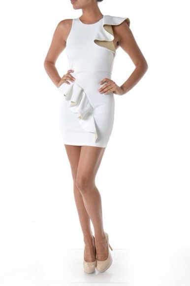 dress white fashion white dress vintage peplum sexy dress sexy party party dress