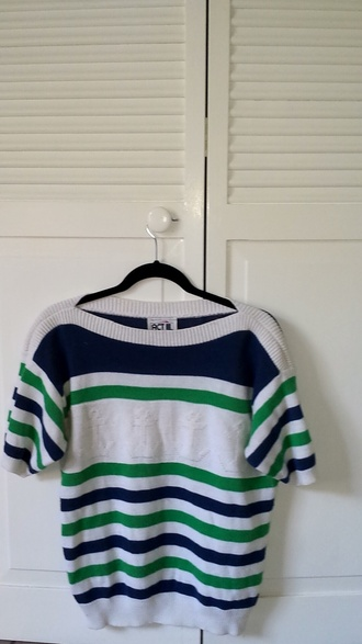 shirt nautical sweater sweater shirt striped shirt stripes lolita nymphet