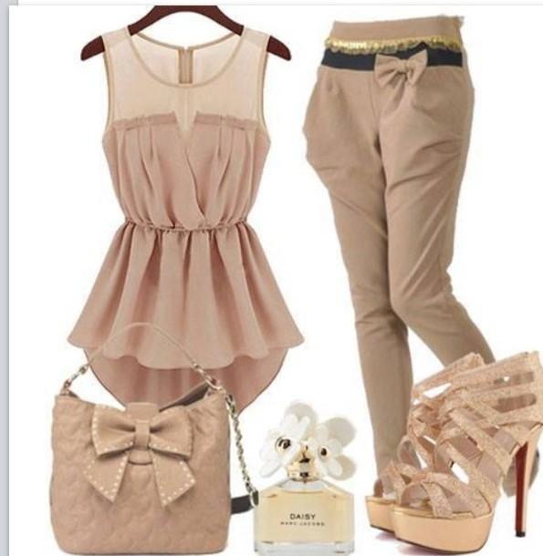 blouse pants shoes