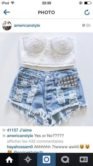 color shorts denim