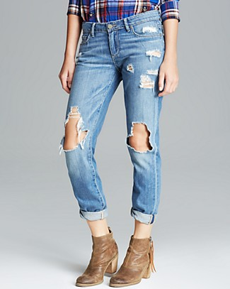 Paige Denim Jeans - Jimmy Jimmy Skinny in Clifton Destructed | Bloomingdale's