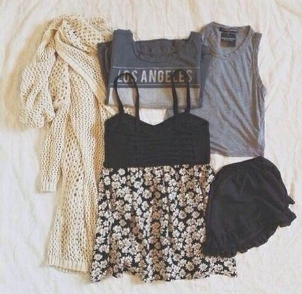 dress foral little black dress cute dress black floral skirt ariana grande shirt