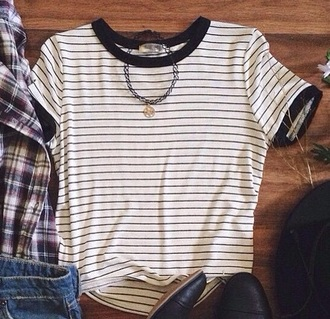 shirt t-shirt striped shirt