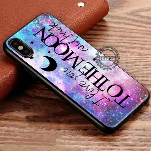 I Love You To The Moon And Back iPhone X 8 7 Plus 6s Cases Samsung Galaxy S8 Plus S7 edge NOTE 8 Covers #iphoneX #SamsungS8