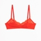 & other stories   scalloped lace soft bra   tangerine