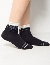 socks,black bow socks,cute socks,pixiemarket,kawaii,kawaii accessory,holiday gift