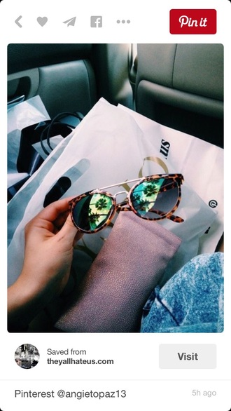 sunglasses accessories fashion style tumblr leopard print