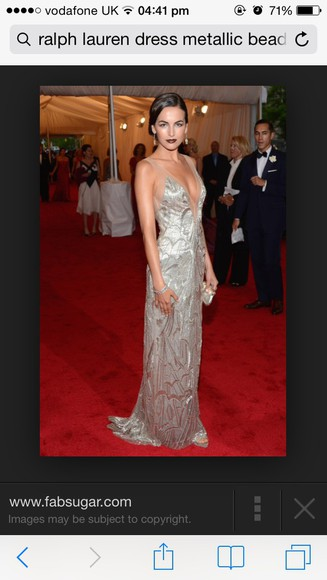dress red carpet gown camilla belle metallic