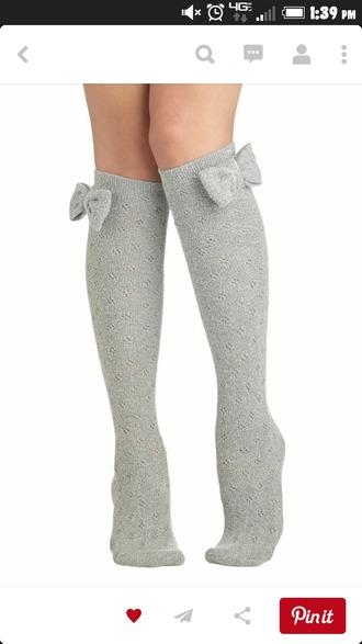 socks grey warm thigh bow bows kawaii kawaii socks warm socks comfy comfy socks cute with boots leg warmers knee high socks thigh highs