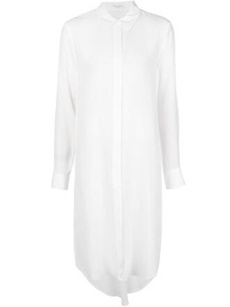 dress shirt dress sheer white