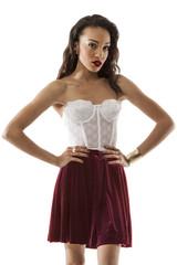 Aurora Velvet Skirt in Wine – Wunderlust