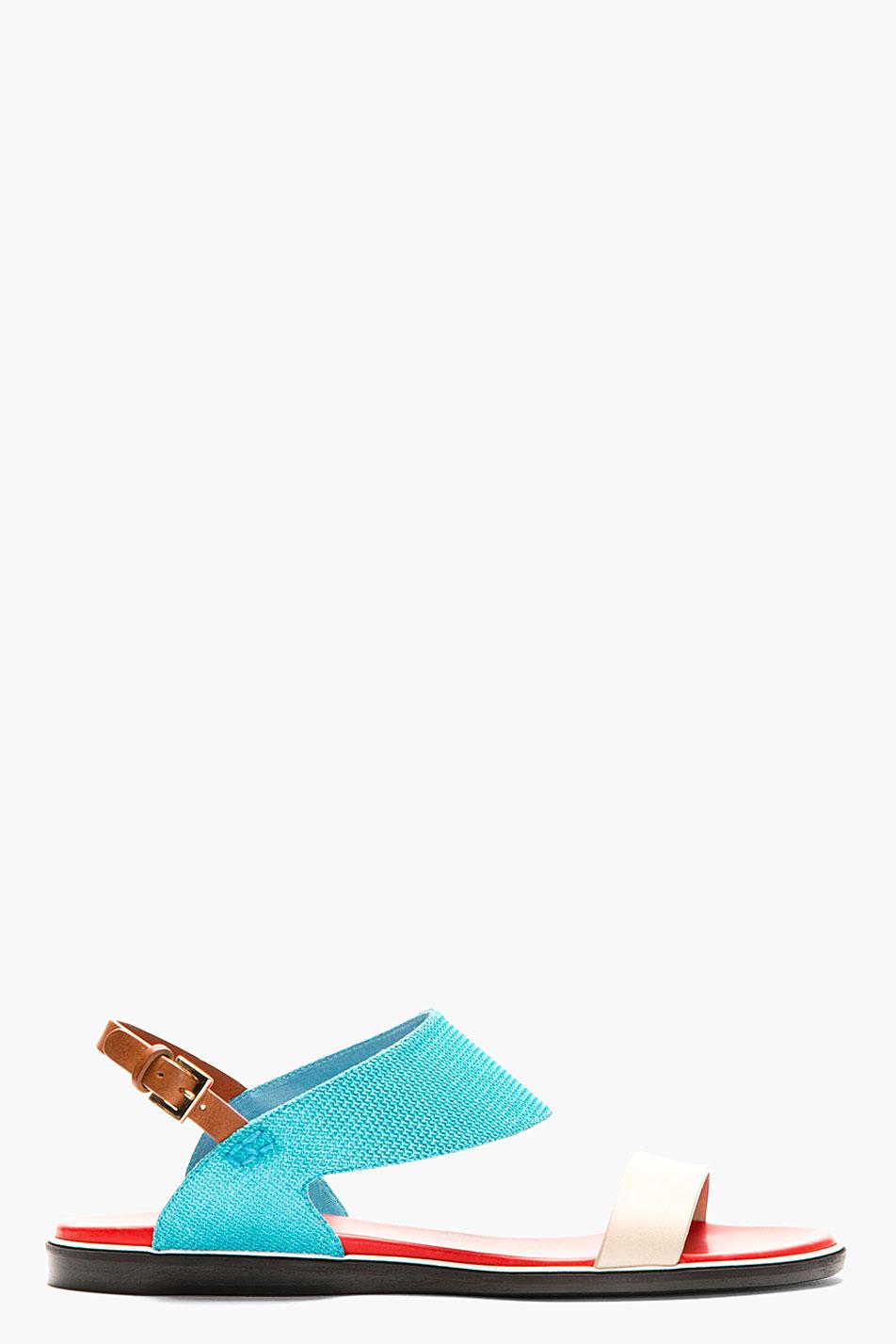 Nicholas kirkwood turquoise flat sandals