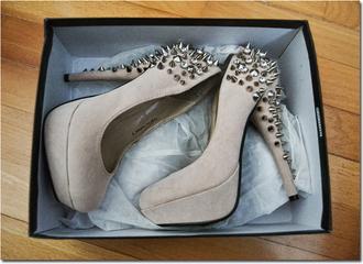 shoes heels studded platform shoes