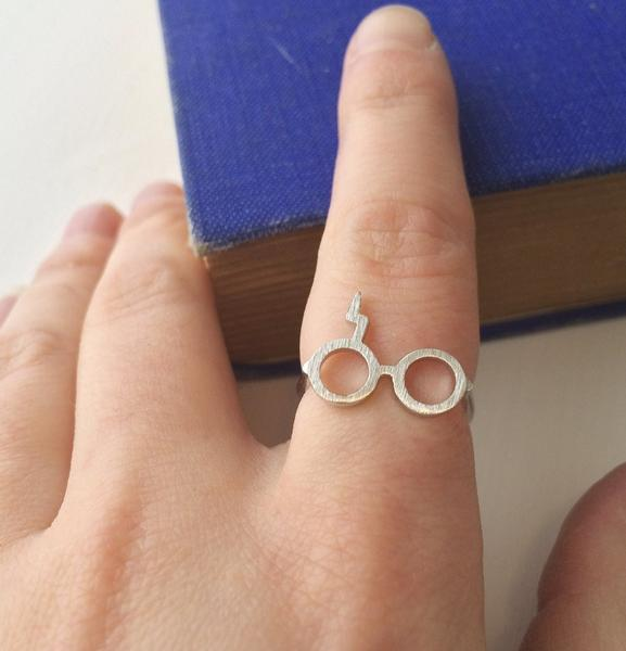 Harry Potter Lightning Bolt Scar Glasses Ring