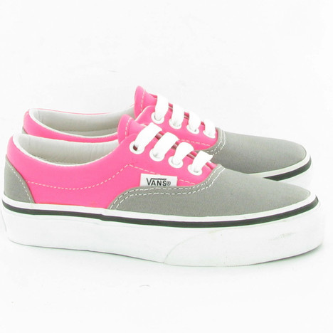 Vans Era Kids Lace Shoes in Pink Grey