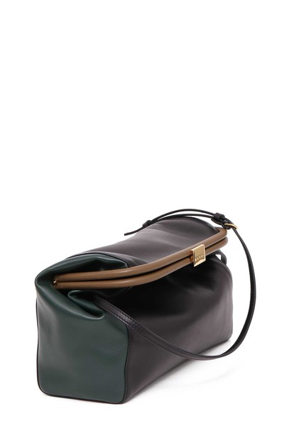 MARNI lady handbag sea dark black green bag