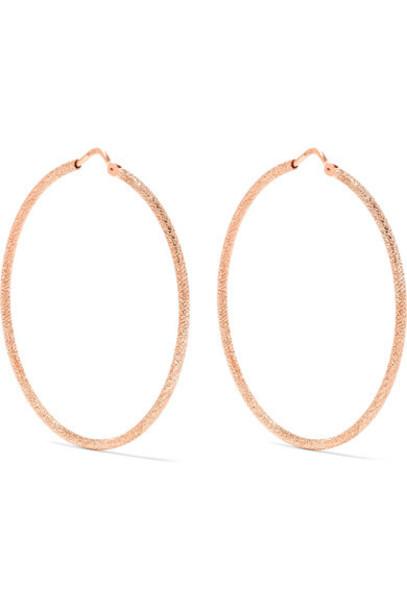 Carolina Bucci rose gold rose earrings hoop earrings gold jewels