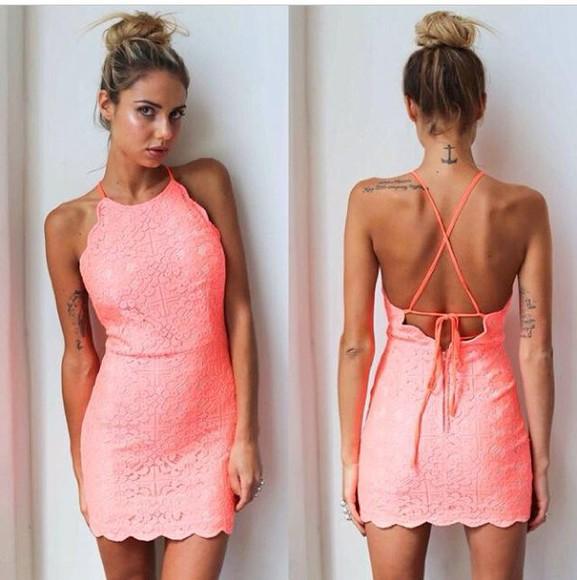 backless dress lace dress halter dress high neck bodycon dress
