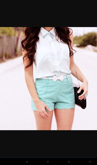 shorts aliexpress.com mint pastel cute girly hipster short tumblr dress jumpsuit jewels blouse