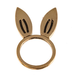 New Timi Jewelry Gold Rabbit Ear Ring Size 7 | eBay