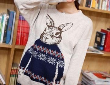 Rabbit sweater, easter gift, bunny ..