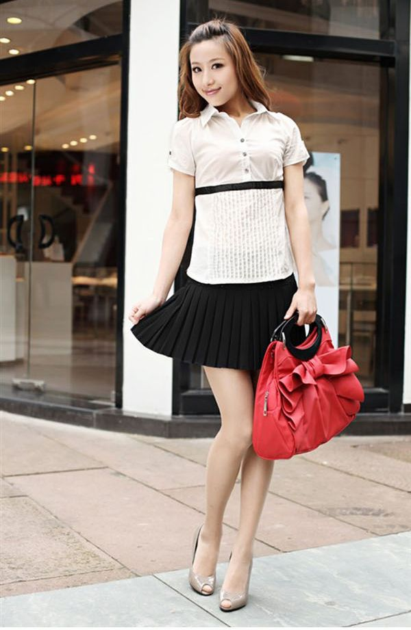 7edeb0efba Free Shipping Fashion Woolen All Match Pleated Skirt Short Skirts Korean  Style Pure Color Women's Mini ...