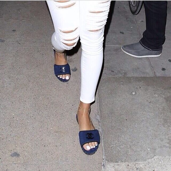shoes chanel rihanna. rihanna sandals rihanna shoes jeans